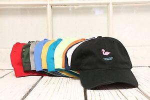 Image is loading New-Flamingo-Baseball-Cap-Hat-Many-Colors-Available 0876ca23b36