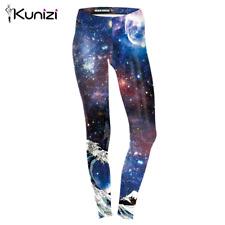 girl leggings Moon Changes Galaxy 3D Printed Women Legging pant C1109