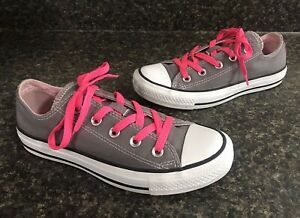 Pink Low Top Lace Up Sneakers Size 6 US