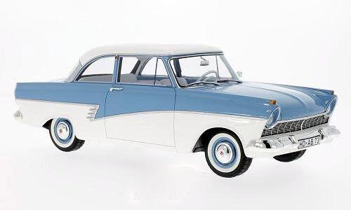 p2 azul claro//blanco 1957 1:18 bos />/> New /</< Ford Taunus 17m