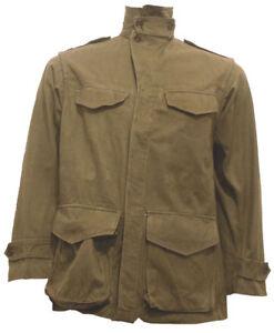 Army-Combat-Jacket-Coat-Smock-60s-M47-French-NEW-GI-Surplus-Khaki-VTG-VGC