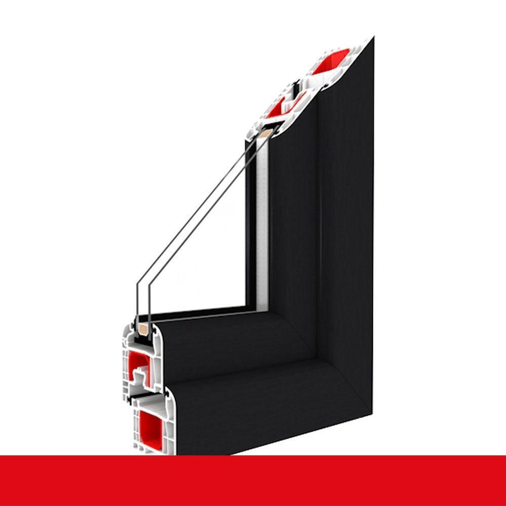 Balkontür Anthrazitgrau 1-flügelige Kunststoffbalkontür Terrassentür Dreh-Kipp