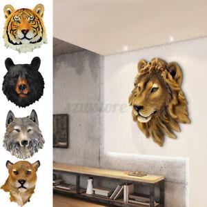 Black Bear Head Wall Hanging Decor Animal Sculpture Ornament Wall Art Decor UK