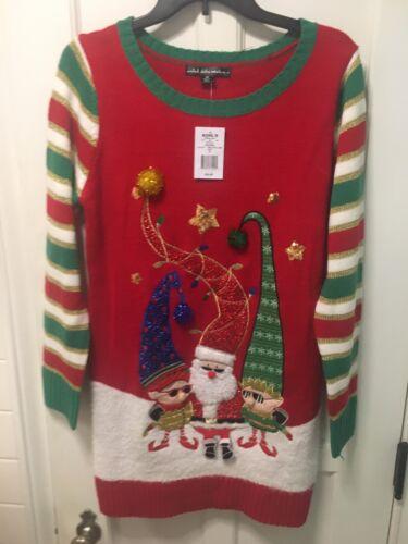 Women/'s Ugly Christmas Sweater Dress Santa U.S Sweaters multiple sizes $50.