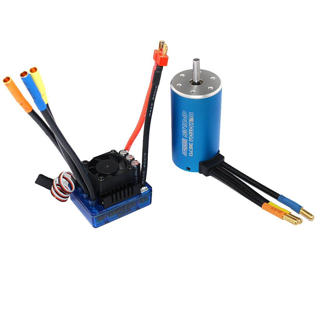 3670 KV2150 Sensorless Motor and 80A ESC Combo for 1 8 1 10 RC Auto Car Accs