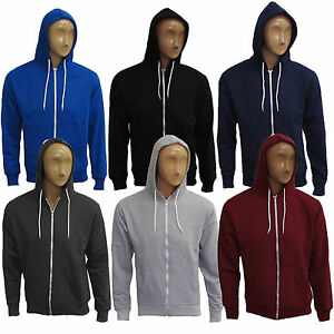 Mens-Plain-Warm-Zip-Up-Fleece-Hoody-Hooded-Sweatshirt-Jacket-Top-Hoodies-S-XL