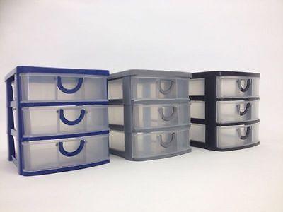 Schubladenbox Ordnungsbox Aufbewahrungsbox Ablagesystem Box 3er Schublade