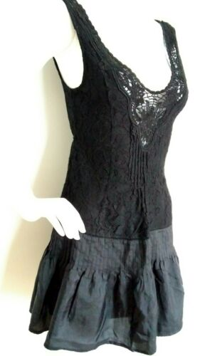 Free Lace Dress Silk Black People used Size 8 Once mint pprwvZq