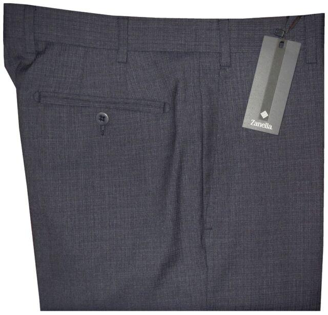 $365 NWT ZANELLA NORDSTROM DEVON DK BLUE-GRAY 130'S WOOL DRESS PANTS 36