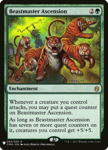 1x Beastmaster Ascension MTG Mystery Booster NM Magic Regular