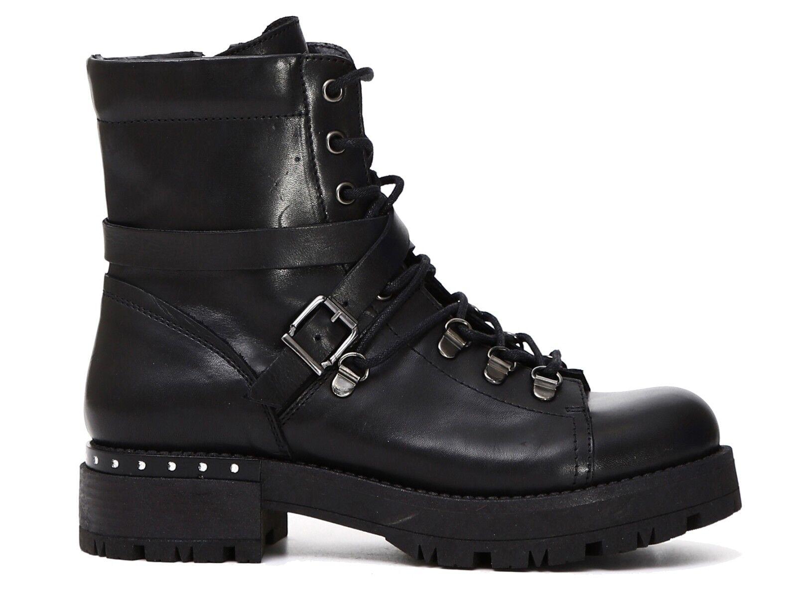 Grandes zapatos con descuento ANFIBI DONNA CAFENOIR INVERNO FC122 010  TRONCHETTI NERO