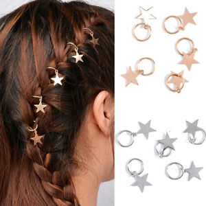 Jewelry-Accessories-Hair-Shinny-Rings-For-Braids-Gold-Cute-Women-5Pcs