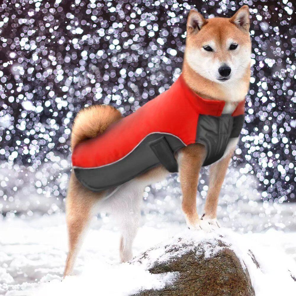Reflective Waterproof Dog Coats Winter Warm Padded Pet Puppy Clothes Jacket 3