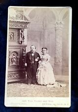 Signed Cabinet Card Photograph of Mr Mrs General Tom Thumb 1881 Circus Barnum