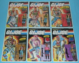 RECARDED-Lot-GI-Joe-Dreadnok-Set-Torch-Buzzer-Ripper-Monkeywrench-Zarana-Zandar