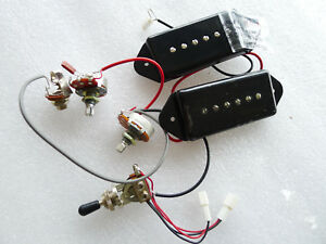s l300 pair genuine p90 p 90 dog ear pickups with harness kits black cover