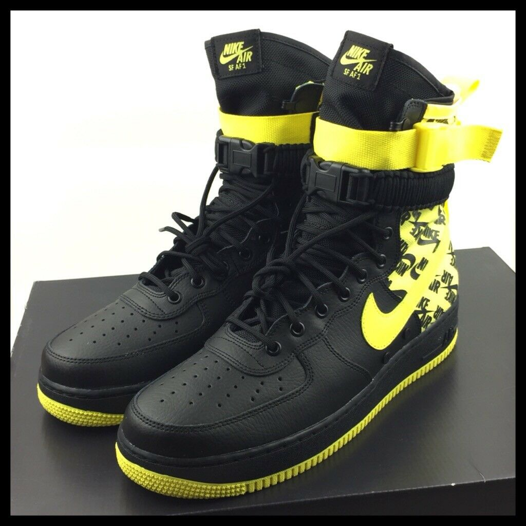 Nike Air Force 1 High SF-AF1 Special Field Mens Size 12 Yellow Black AR1955-001