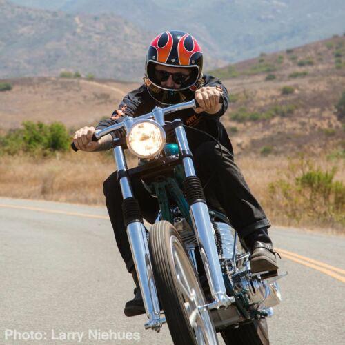 BILTWELL Gringo Dice Flames Full Face Motorcycle Helmet