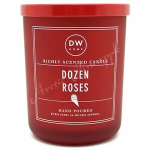 DW-Home-Large-15-3-oz-56-Hour-Large-Double-Wick-Red-Candle-Red-Lid-Dozen-Roses