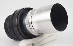 JUPITER-11-F-4-135mm-m42-LENS-MADE-FOR-KONVAS-MOVIE-CAMERA-METAL-HOOD