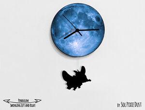 HonnêTe Dumbo Swinging Sur La Lune-pendule Horloge Murale-afficher Le Titre D'origine Remise En Ligne