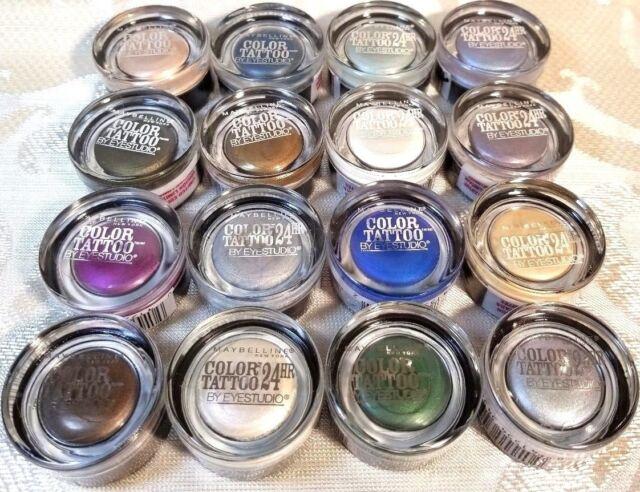 Maybelline Eye Studio Color Tattoo Leather 24 Hr Cream Eyeshadow Dramatic Black