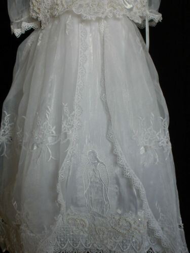 Baby Girl /& Toddler Christening Baptism formal Dress Gown size 3 4 18M - 36M