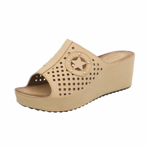 Sandalen /& Sandaletten Pantoletten Damenschuhe 6364 Ital-design