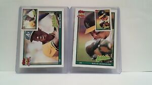 Uncirculated-1991-Topps-A-039-s-Willie-McGee-Willie-Randolph-Mini-039-s