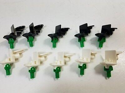 LEGO Lot of 4 Black Soccer Base Spring Minfiig Stands