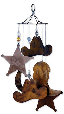 RUSTIC LARGE HORSESHOE WESTERN  METAL WIND CHIME NEW  FAST FREE SHIPPING!