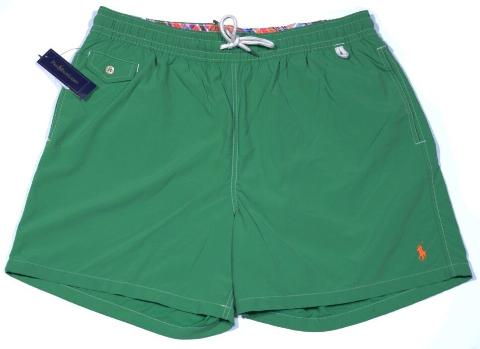 Men's POLO RALPH LAUREN Kelly Green Swimsuit Swim Trunks XXL 2XL NWT NEW