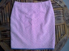 LUXUS Escada BOUCLE PAILLIETTEN COUTURE knit Rock skirt pink 40/42/44 NP980,-