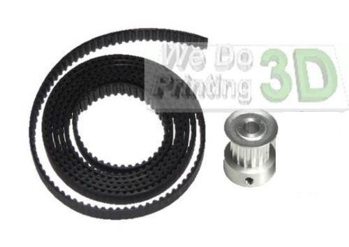 Shaft Pulleys 3D Printer GT2 Timing Belts and  8mm Diamenter 20 Teeth