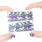 Nail Art Manicure Water Transfer Decal Stickers Flowers & Skull YB956