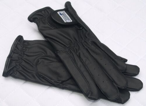 Tysons Faux Leather Riding Gloves Riding Gloves Black Super Grip