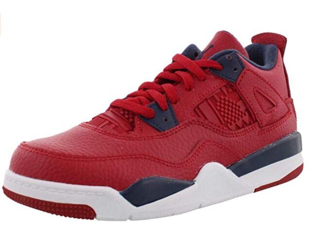 Nike Air Jordan Retro 4 PS FIBA Bq7669 617 Youth Size 1y Red Boy SNEAKERS Shoes