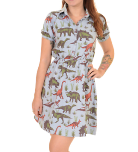 Print Skater Shirt Vintage Dinosaur Retro amp;fly Dress Run With T Colourful Style XO5qPwvxY