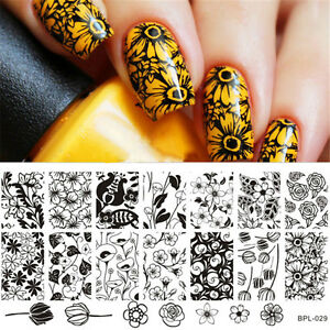 Nail-Stamping-Plate-Nail-Art-Stamp-Stencil-Tulip-Rose-Design-BP-L029-BORN-PRETTY