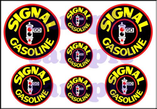 1 INCH 3//4 inch 1//2 inch SIGNAL GASOLINE WATERSLIDE DECAL