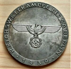 WW2-GERMAN-COMMEMORATIVE-COLLECTORS-COIN-REICHSMARK-BERLIN-039-39-39mm
