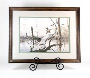 Vintage-Ralph-R-J-Mcdonald-Ducks-Unlimited-Small-19-034-Framed-Print-Mallard-Duck