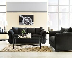 Wondrous Details About Ashley Furniture Darcy Black Sofa And Loveseat Living Room Set Interior Design Ideas Apansoteloinfo
