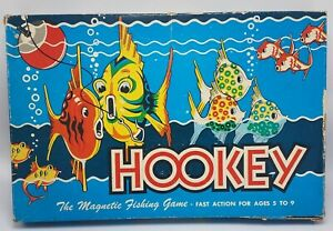 1956-Vintage-Hookey-Magnetic-fishing-Board-Game-Cadaco-Ellis