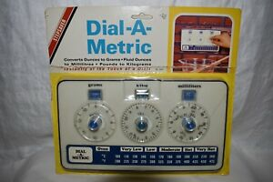Nib Dial A Metric Oven Conversion Chart Vintage Kitchenalia Retro