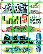 6021 DAVE'S DECAL HO 1:87 SCALE DECALS URBAN CITY STREET GRAFFITI TAGGING MODERN