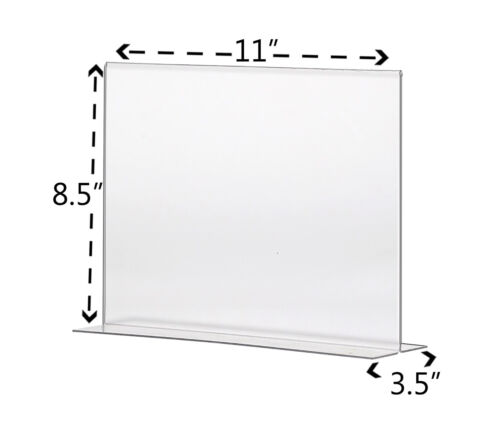 """11/""""W x 8.5/""""H Double sided Photo Bottom Loading Table Sign Holder Lot of 24"""
