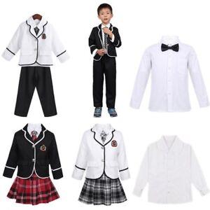 Stile-britannico-Boys-Girls-School-Uniform-Abiti-Cosplay-Costume-Tuta-Festa-Set