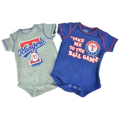 Weitere Ballsportarten Nachdenklich Mlb Texas Rangers Boris Kleinkinder Baby 2 Stück Creeper Bodysuit Kugelspiel