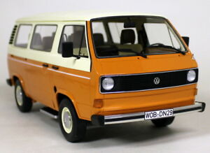 ClassiXXs-1-18-Scale-VW-Volkswagen-T3-Bus-Orange-Ivory-Resin-cast-model-van